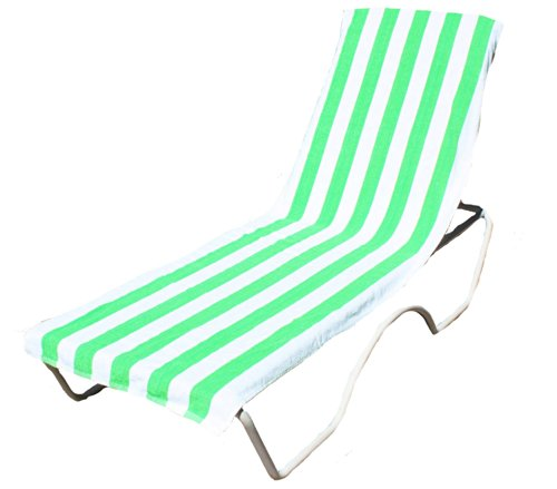 J & M Home Fashions Lounge Chair Beach Towel with Fitted ...