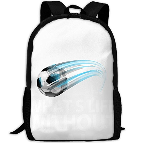 What's Life Without Goals Soccer Double Shoulder Backpacks For Adults Traveling Bags Full Print Fashion