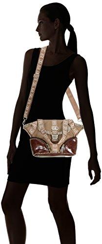 poodlebag German Couture-piping-blankenese, Borsa a spalla Donna Marrone (Marrone (Tortora))