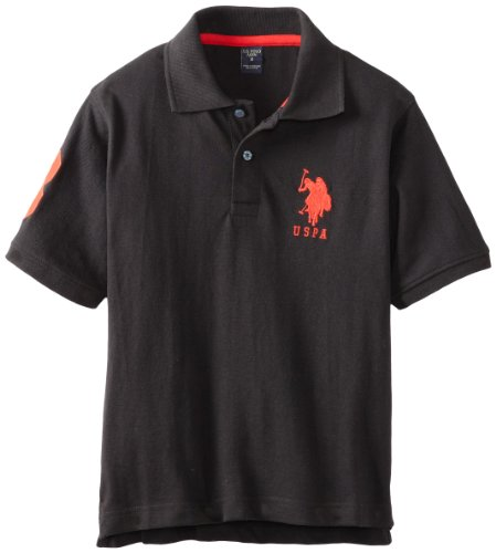 U.S. Polo Assn. Big Boys' Short-Sleeve Solid Pique Polo Shirt