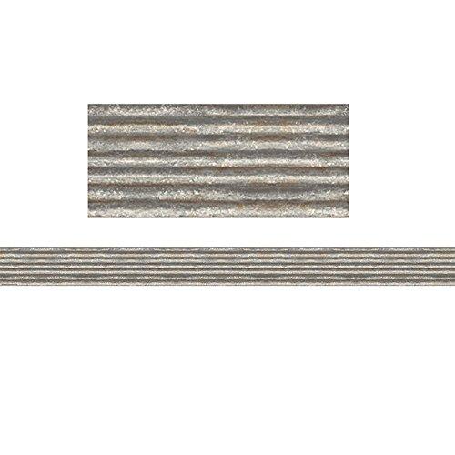 Teacher Created Resources Corrugated Metal Straight Border Trim (Classroom Border)