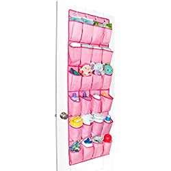 Unjumbly Shoe Storage for Women, Men and Children from, Ideal Baby Room Organizer, 4 Colors Available - Complete with 4 Strong and Durable Over Door Hooks