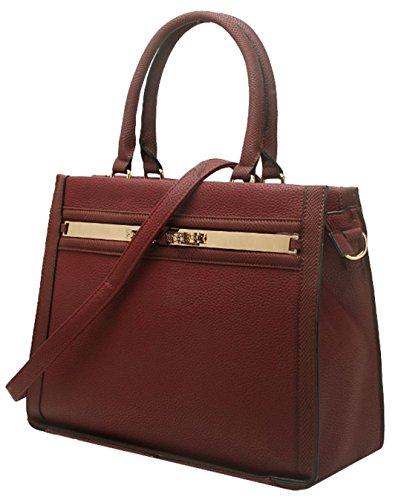 Bolso Material Granate De Sintético Para Asas Handbags Mujer Girly 5WT8T