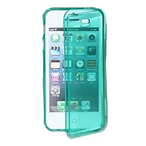 TPU Transparent Full Body Case for iPhone 4/4S(Assorted Color) --- COLOR:Purple