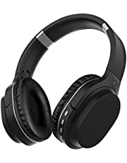 Los Auriculares Azules con micrófonos de silenciador Tienen audífonos Bajos Profundos, audífonos de proteínas cómodos, Soporte TF, 30 Horas de Viaje, Trabajo y Aire.