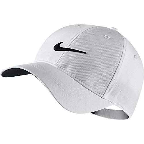 Tiger Golf Hat - Nike Golf Tech Adjustable Cap (White)