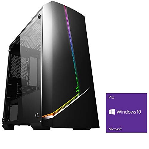 OCHW ARGB RGB Ultra Fast Gaming PC Desktop Computer AMD Kaveri A8-9600 4.2GHz Quad Core ATI Radeon HD R7 Graphics USB 3…
