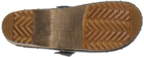 Sanita Wood-Kristel open 455205W-2 - Zuecos de cuero para mujer Gris