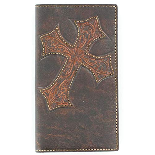 (Nocona Belt Co. Men's Nocona Diagnol Cross Embose Rodeo, Brown, One Size )