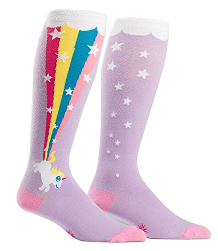 Roller Derby Costumes (Wide Calf STRETCH-IT Knee High Rainbow Blast Socks, Rainbow Blast, One Size)