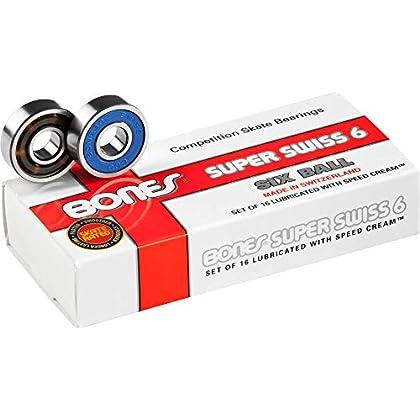 Image of Bearings Bones Super Swiss 6 Bearings 8mm 16 Pack