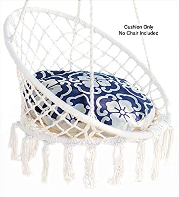 Amazon Com Nooksta Cushion Only For Macrame Hanging Chair Cushion For Hanging Chairs For Bedrooms Cushion Insert For Indoor Hanging Chair Ceiling Chair Bluemorrocan Kitchen Dining