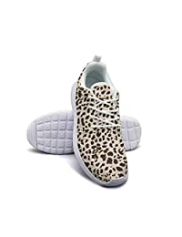 Hobart dfgrwe Leopard Cheetah Print Brown Light Yellow Lady Skateboard Casual Shoes Print Sneakers