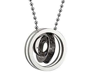 CoolRings Men Necklace Pendant Eternal Love Interlocking ...