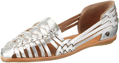 Pepe Jeans London Melrose Metal, Zapatillas para Mujer Plateado (Silver)