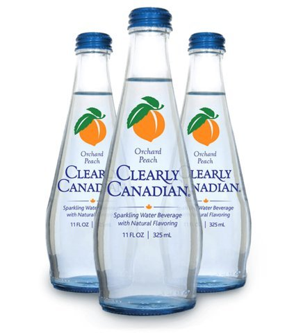 Clearly Canadian Orchard Peach Sparkling Water - 11 oz bottles (Pack of 12)