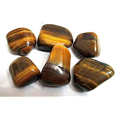 "Tiger Eye Tumbled Stone 100 Grams Approx. 0.75"" to 1""inch Attractive Genuine A Grade: Health & Personal Care"