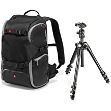 Manfrotto MKBFRA4-BH BeFree Travel Tripod - Bundle - with Advanced Travel Backpack, Black