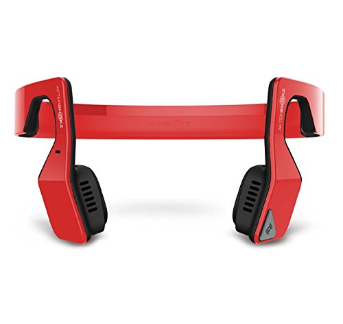 AfterShokz Bluez 2 Open Ear Wireless Stereo Headphones, Red, (AS500R)
