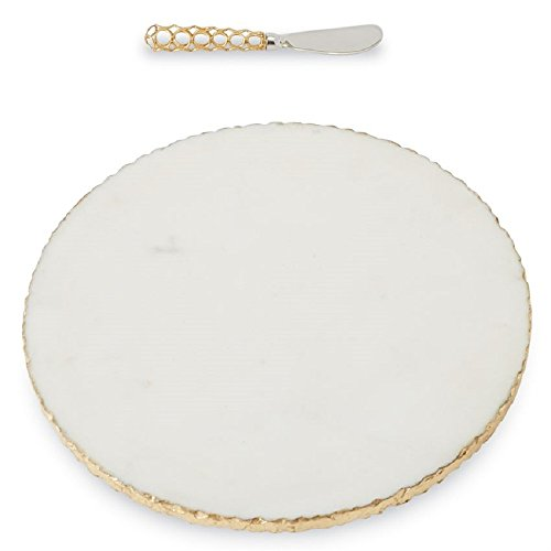 Gold Edge Marble Board Set, 12