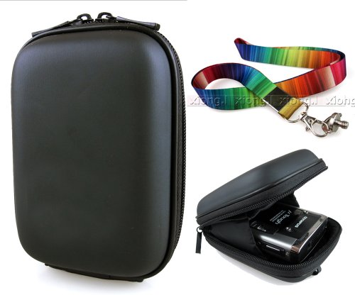 - Co2Crea(TM) Black Semi-Hard EVA Digital Camera Case Bag Cover for Olympus Stylus XZ-10 TG-630 iHS TG-820 iHS TG-320 iHS VH-515 VH-410 VR-340 VG-160 with Colorful Neck Strap with tripod mount screw