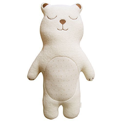 Organic Cotton Baby First Doll (No Dyeing Natural Organic Cotton) ... (Sleeping Baby Bear)