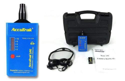 Nitrogen Leak Detector (Superior AccuTrak VPE BASIC Ultrasonic Leak Detector Basic Kit, Includes VPE Leak Detector, Headset, Battery, Hard Case)