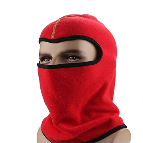Winter Men Sport Ski Hats Bandana Riding Bicycle Cap Solid Color Windproof,H163 Red,L for $<!--$29.17-->
