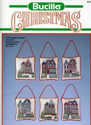 Bucilla Victorian Houses Christmas Ornament Set 82749