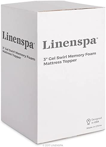home, kitchen, bedding, mattress pads, toppers,  mattress toppers 11 discount Linenspa 3 Inch Gel Swirl Memory Foam Topper promotion