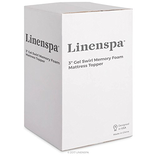 Linenspa 3 Inch Gel Swirl remembrance space-age foam Topper Queen