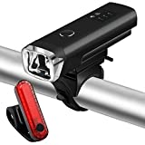 Akale Best Version Rechargeable Bike Light Set, Powerful Lumens Bicycle Headlight Free Tail Light, LED Front and Back Rear Lights Easy to Install for Kids Men Women Road Cycling Safety Flashlight Review
