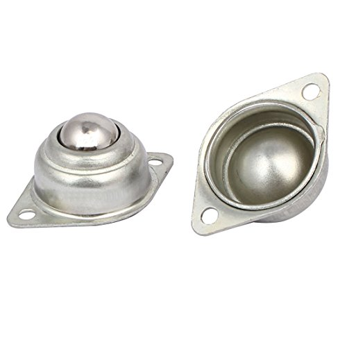 uxcell 14mm Dia Ball Transfer Bearing Unit Casters Universal Wheel Silver Tone 2pcs