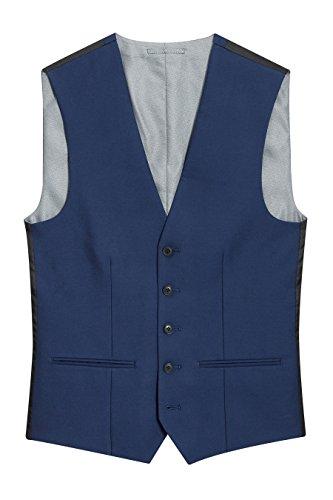 next Homme Gilet Brillant Bleu Eu 122 Regular (Uk 48R)