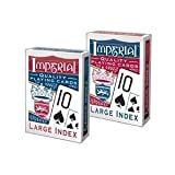 Playmonster 1451 Imperial Poker Playing Cards, Large Index - Quantity 12