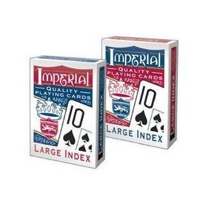 Playmonster 1451 Imperial Poker Playing Cards, Large Index - Quantity 12 by Patch Products, Inc.