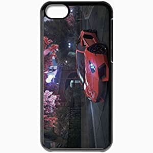 Personalized iPhone 5C Cell phone Case/Cover Skin Lamborghini Aventador Lp700 4 Black by supermalls