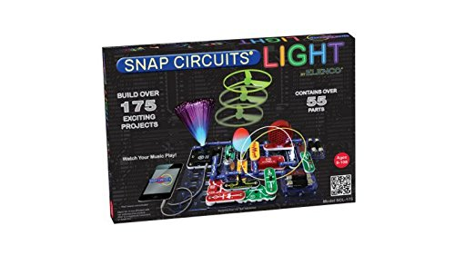 Elenco Snap Circuits Lights Build Over 175 Exciting Projects with High-tech Infrared Detector, Strobe Light, Color Changing Led