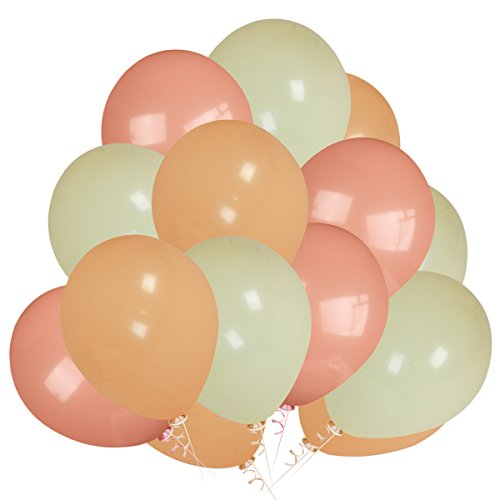 100Pcs Pastel Rose Gold & Pastel Champagne & Pastel Yellow Color Party Balloons,for Bachelorette Wedding Hawaii Birthday Baby Shower Party Decoration Supplies by LeeSky