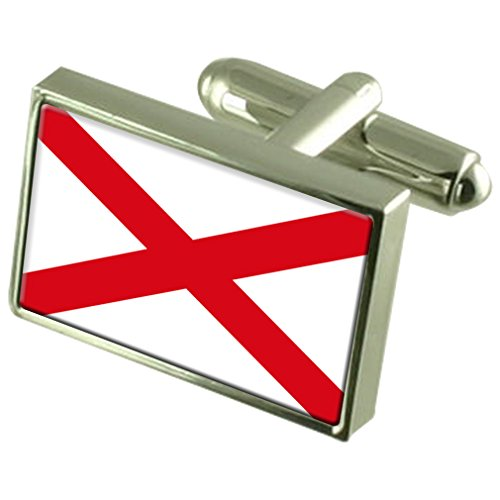St Patrick?s Cross Sterling Silver Flag Cufflinks by Select Gifts