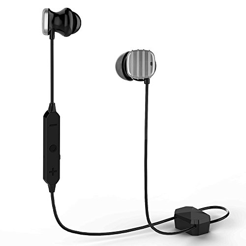 Upgrade HE8D Active Noise Cancelling Headphones, Wireless in Ear Bluetooth Earbuds with Hard Travel Case Built in Microphone Volume Control Enhanced Bass Ear Buds- Silver