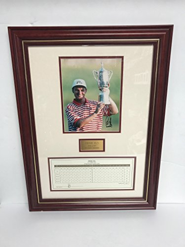 Ernie Els Signed Framed Photograph 1994 and 1997 US Open Champion with scorecard (Pro Memorabilia Photograph Tour)