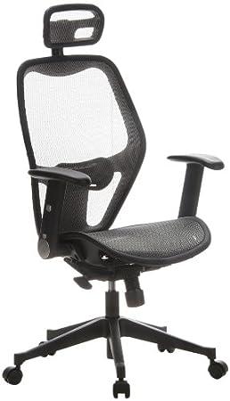 Hjh OFFICE 653040 Chaise De Bureau Fauteuil AIR PORT Gris Siege