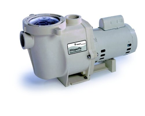 Pentair 012485 WhisperFlo High Performance Energy Efficient Two Speed Up Rated Pool Pump, 1 Horsepower, 115 Volt, 1 Phase by Pentair