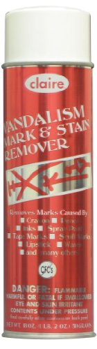 Claire C-870 18 Oz. Vandalism Mark & Stain Remover Aerosol Can (Case of 12)