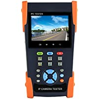 SainSonic CT-200 IP Camera Tester CCTV Tester Monitor, Built in Wi-Fi, 3.5 inch Touch Screen 480x320, Support ONVIF with Video Record 1080P, DC12V/1A Output, POE Output, IPC-3500