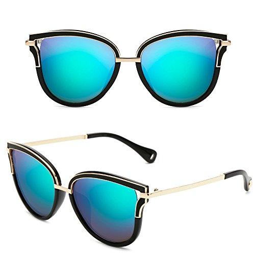 Dintang de femmes de cru UV400 lentilles mode bloquent d'oeil UVA soleil soleil avec qui des UVB de de Vert Lunettes chats de lunettes et de rIAqFwr