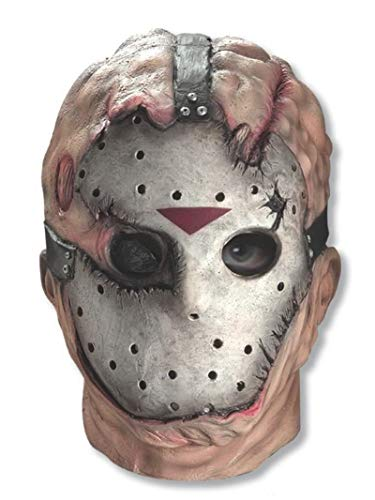 Friday The 13th Jason Voorhees Deluxe Overhead Mask, Gray, One Size