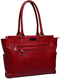 Pebbled Faux Leather 16-inch Laptop Wheeled Business Tote