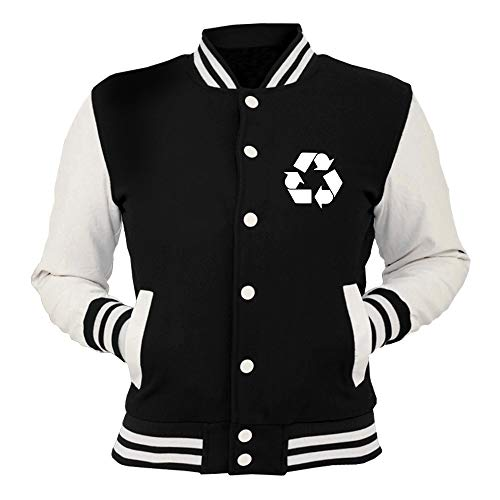 Giacca Recycling College shirtshock Nera Oldeng00847 T Leonards 48aqwn